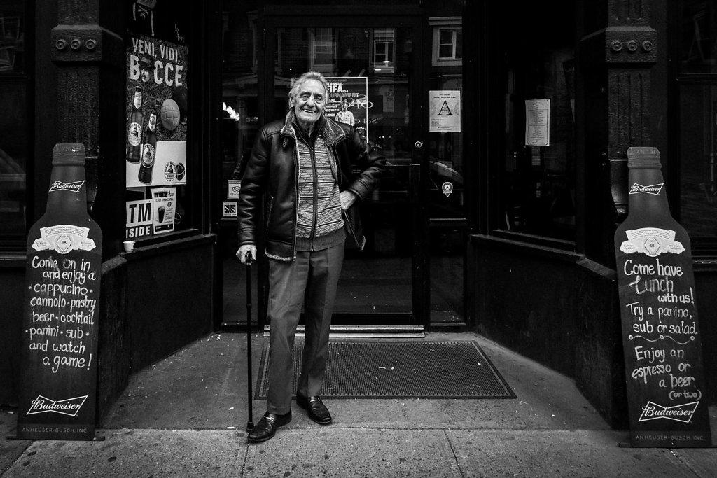 """Mr. Angelo Cattaneo, the owner of the historic """"Caffè dello Sport"""" in North End, Boston."""