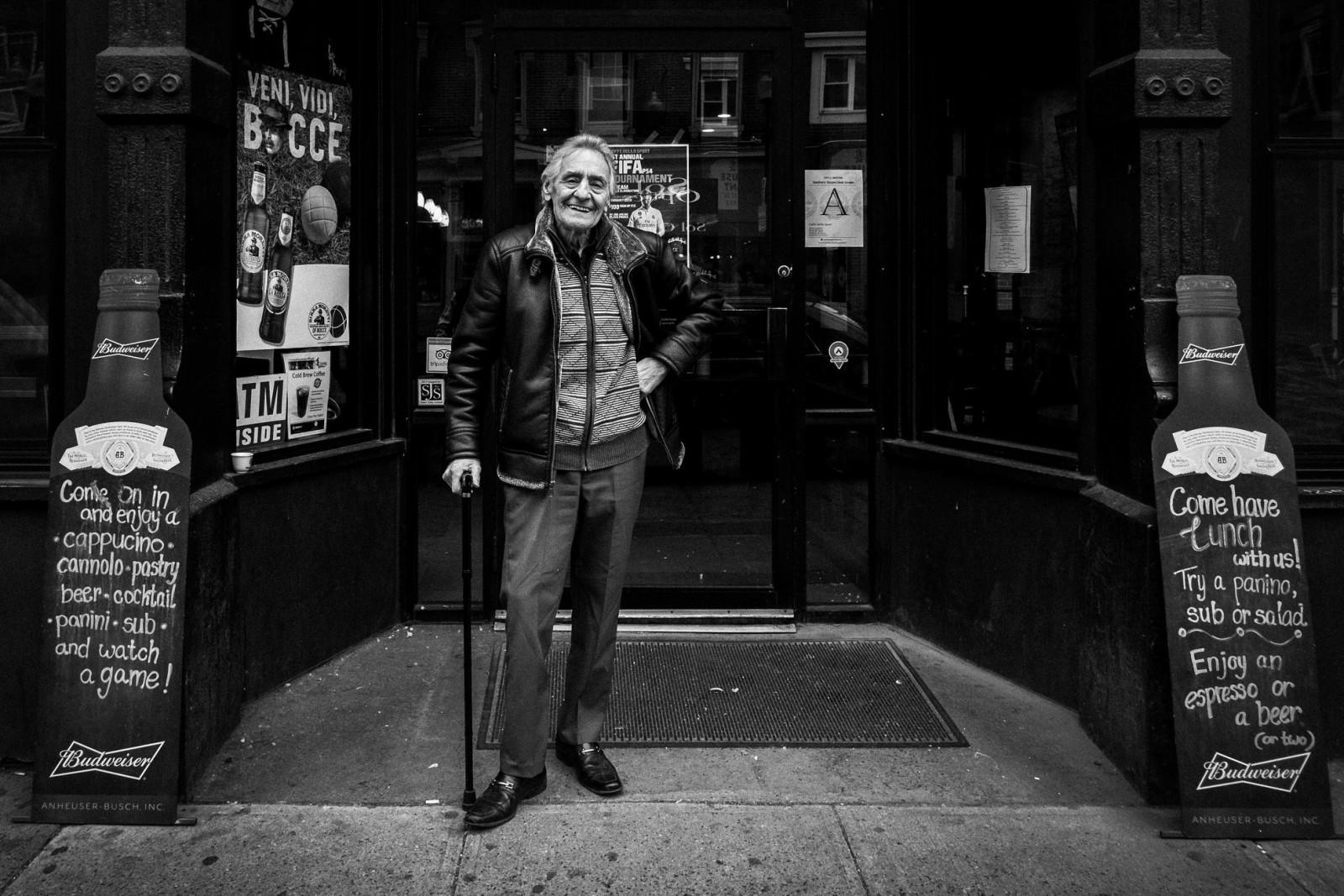 """Mr. Angelo Cattaneo, the owner of the historic """"Caffè dello Sport"""" in North End, Boston"""